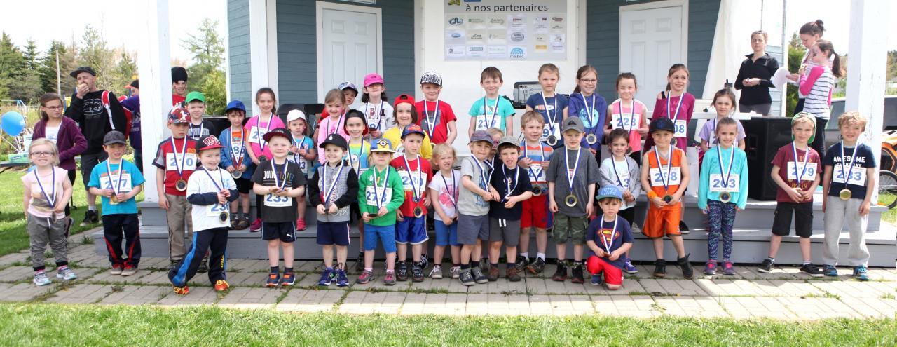 Participants 0-8 ans (1 km)