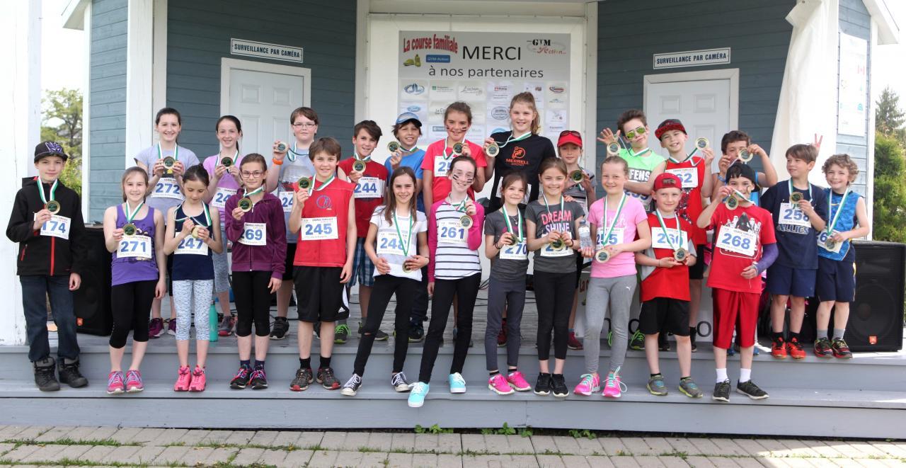Participants 9-12 ans (1.6 km)