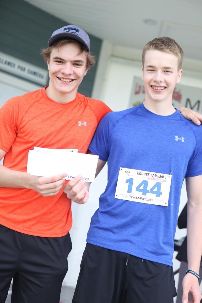 Jérémi Leclerc et Louis-Daniel Miville 5 km 16-19 ans